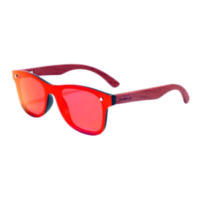 Napa 1504M-5 WFR Classic Polarized Mirrored Sunglasses Red