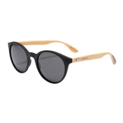 Glendale 1056-1 Classic Round Polarized Tinted Sunglasses Gray