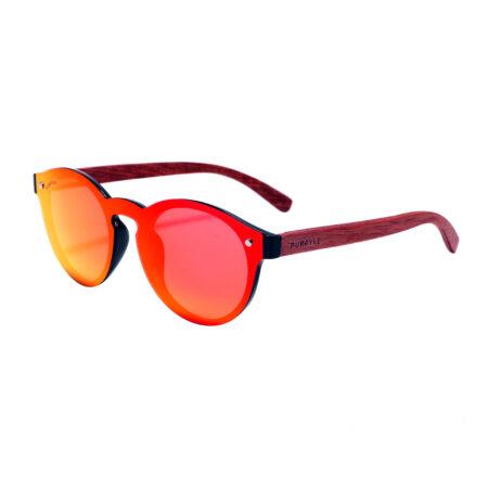 Palo Alto 1502M-5 WFR Polarized Mirrored Sunglasses Fire Red 4