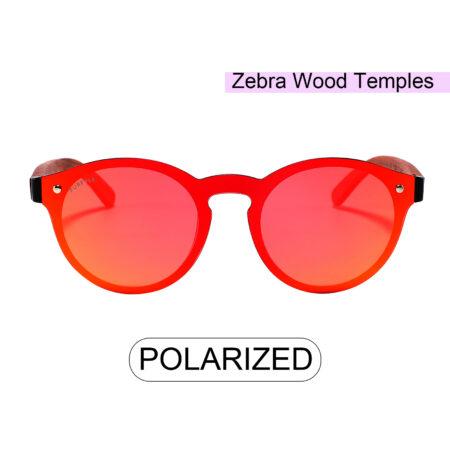 Palo Alto 1502M-5 WFR Polarized Mirrored Sunglasses Fire Red 3