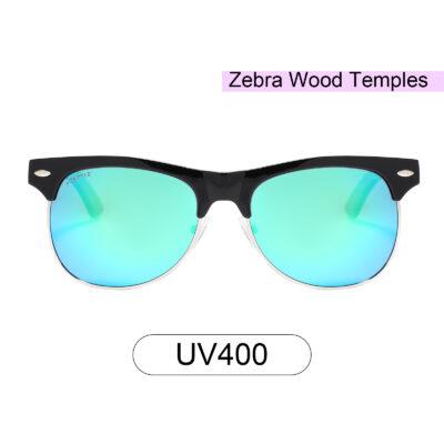 Purpyle Avalon 1503M-1 WFR Classic Polarized Mirrored Sunglasses Blue 1