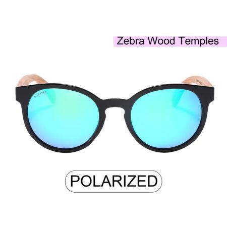 Purpyle Fairfax 1507M-1 WFR Classic Polarized Mirrored Sunglasses Blue 2