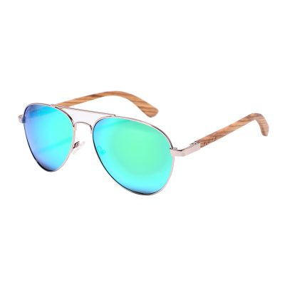 Fremont 1705M-1 Aviator Polarized Mirrored Sunglasses Blue
