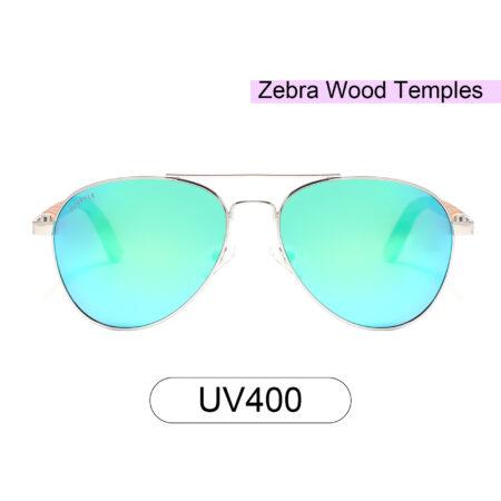 Purpyle Fremont 1705M-1 Aviator Polarized Mirrored Sunglasses Blue 2