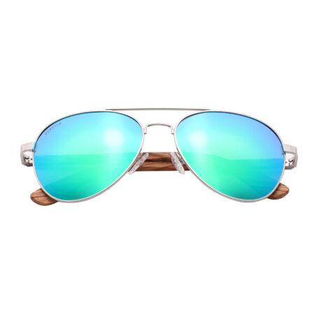 Purpyle Fremont 1705M-1 Aviator Polarized Mirrored Sunglasses Blue 4