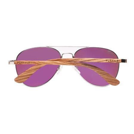 Purpyle Fremont 1705M-1 Aviator Polarized Mirrored Sunglasses Blue 5
