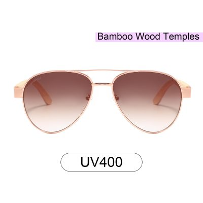 Purpyle Beverly Hills 2040-2 Aviator Tinted Sunglasses Brown 1