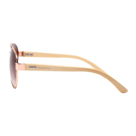 Purpyle Beverly Hills 2040-2 Aviator Tinted Sunglasses Brown 3