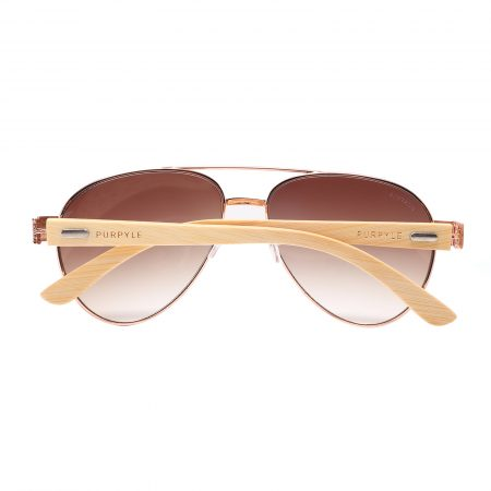 Purpyle Beverly Hills 2040-2 Aviator Tinted Sunglasses Brown 5