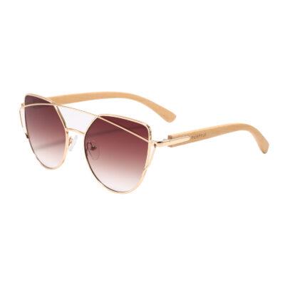 Laguna 2041-2 Rectangular Tinted Sunglasses Brown Women's