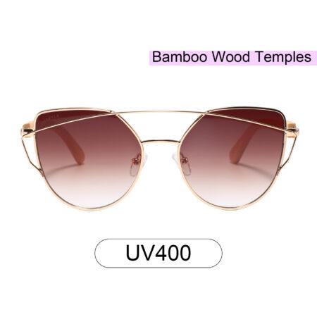 purpyle Laguna 2041-2 Rectangular Tinted Sunglasses Brown 0
