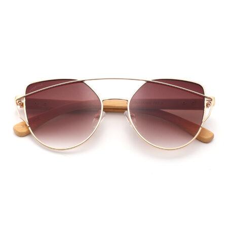 purpyle Laguna 2041-2 Rectangular Tinted Sunglasses Brown 2