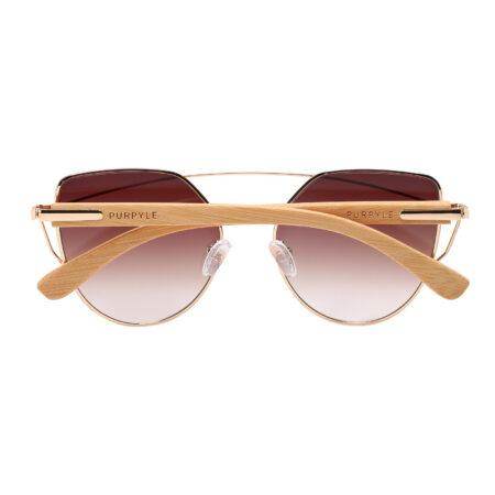 purpyle Laguna 2041-2 Rectangular Tinted Sunglasses Brown d
