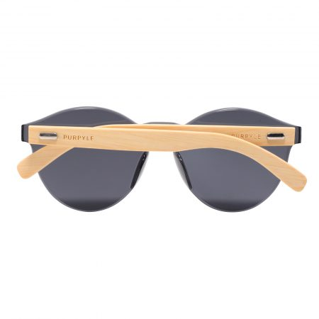 Purpyle Riverside 312-1 WFR Classic Round Tinted Sunglasses Black 5