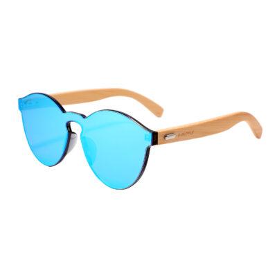 Riverside 312M-4 WFR Classic Round Mirrored Sunglasses Blue