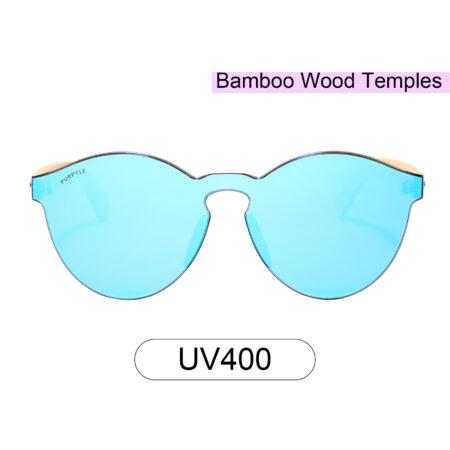 Purpyle Riverside 312M-4 WFR Classic Round Mirrored Sunglasses Blue 1