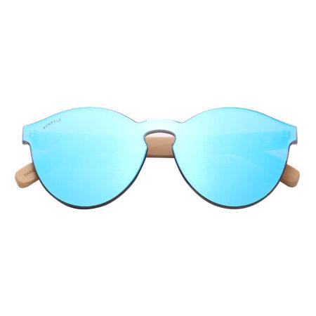 Purpyle Riverside 312M-4 WFR Classic Round Mirrored Sunglasses Blue 4