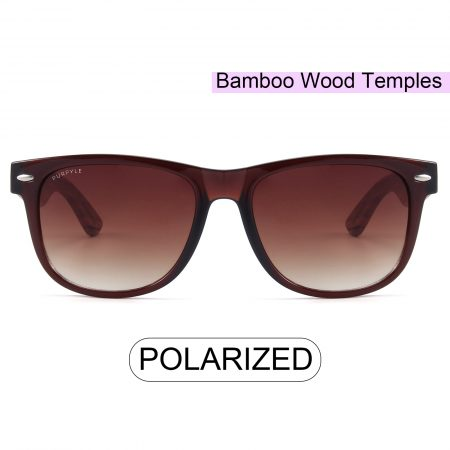 Purpyle Belmont 313W-2 WFR Classic Polarized Tinted Sunglasses Brown 1