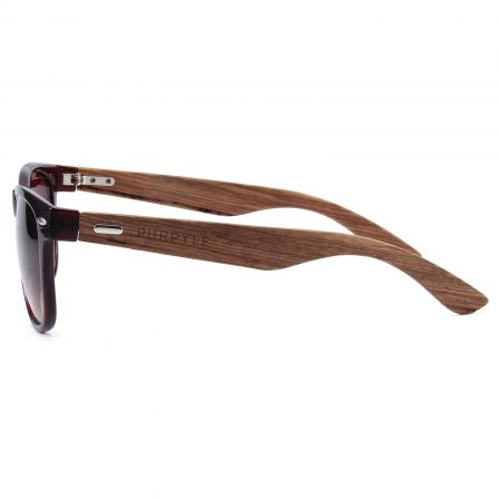 Purpyle Belmont 313W-2 WFR Classic Polarized Tinted Sunglasses Brown 3