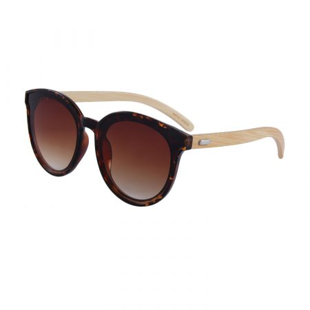 Purpyle Hermosa 314-7 Classic Round Tinted Sunglasses Brown 2