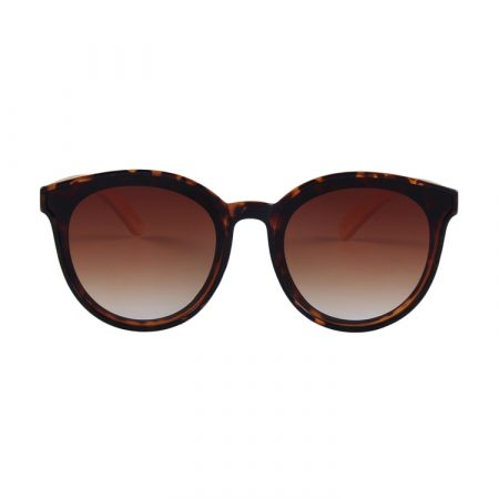 Purpyle Hermosa 314-7 Classic Round Tinted Sunglasses Brown 1