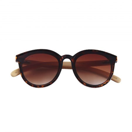 Purpyle Hermosa 314-7 Classic Round Tinted Sunglasses Brown 3