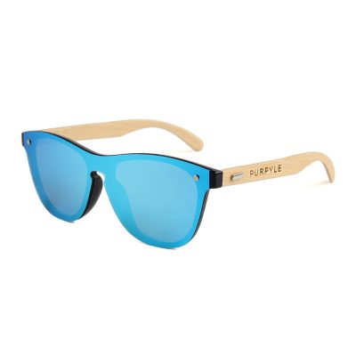 Hollywood 318M-4 WFR Classic Mirrored Sunglasses Blue