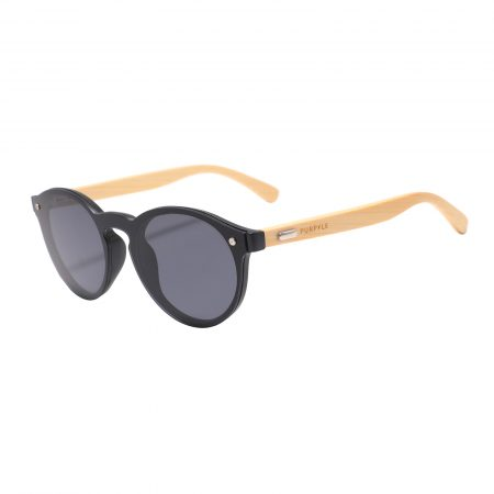 Purpyle Los Angeles 319-1 WFR Classic Round Tinted Sunglasses Black 5