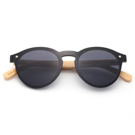 Purpyle Los Angeles 319-1 WFR Classic Round Tinted Sunglasses Black 3