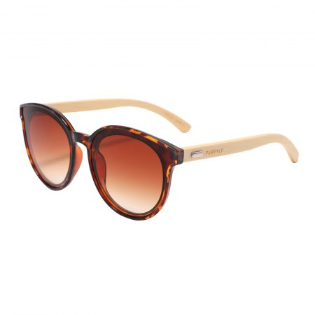 Purpyle Los Angeles 319-7 WFR Classic Round Tinted Sunglasses Brown 5