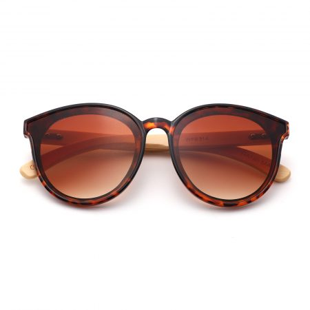 Purpyle Los Angeles 319-7 WFR Classic Round Tinted Sunglasses Brown 2