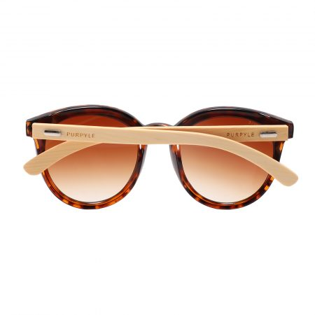 Purpyle Los Angeles 319-7 WFR Classic Round Tinted Sunglasses Brown 1
