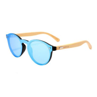 Los Angeles 319M-4 Classic Round Mirrored Sunglasses Blue
