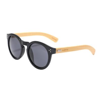 Marina Bay 4023-1 Classic Round Tinted Sunglasses Black