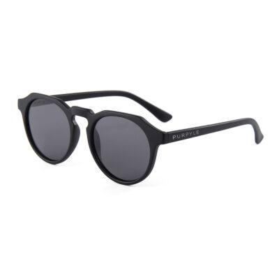 Westchester 4367-1 Round Polarized Tinted Sunglasses Black