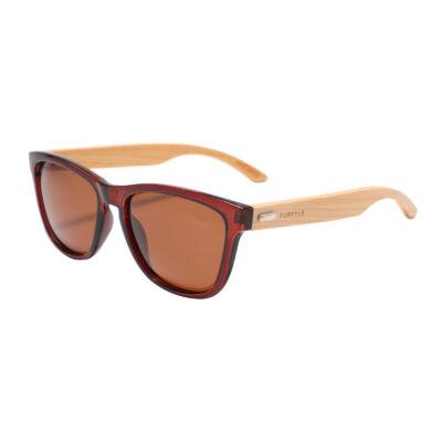 Newport B1039-2 Classic Polarized Tinted Sunglasses Brown
