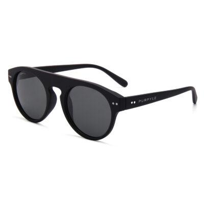 Manhattan 1687-3 Classic Polarized Tinted Sunglasses Black