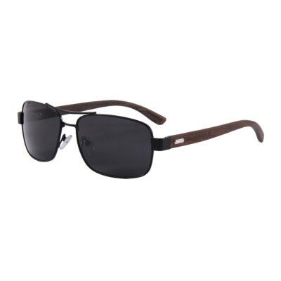 San Diego 1701-1 Classic Polarized Tinted Sunglasses Black