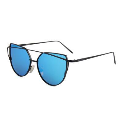 Selma 2202M-4 Round Rectangular Polarized Mirrored Reflective Sunglasses Blue