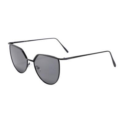 Vista 3459-1 Frameless Square Rounded Bottom Tinted Sunglasses Black