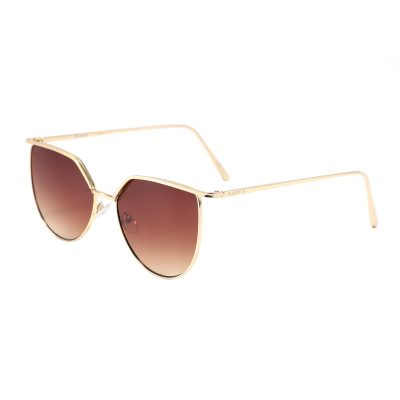 Vista 3459-2 Square Rounded Bottom Tinted Sunglasses Brown