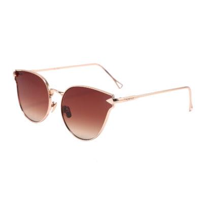 Covina 3461-2 Cat Eye Tinted Sunglasses Brown Women's