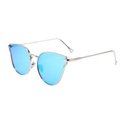 Covina 3461M-4 Cat Eye Mirrored Sunglasses Blue