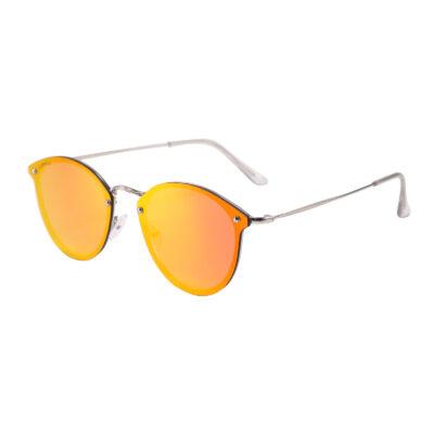 Rocklin 3481M-5 Classic Mirrored Reflective Sunglasses Fire Red