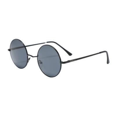 Pacific 3651-1 Round PC Lens Tinted Sunglasses Black