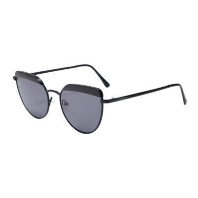 Oregon 3701-1 Round Rectangular Tinted Sunglasses Black