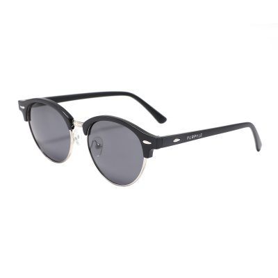 Rochester 4246-1 Clubmaster Polarized Tinted Sunglasses Black