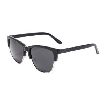 Vienna 5003-1 Clubmaster Polarized Tinted Sunglasses Black
