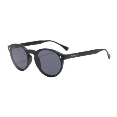 Redondo 7003-1 Frameless Round Tinted Sunglasses Black