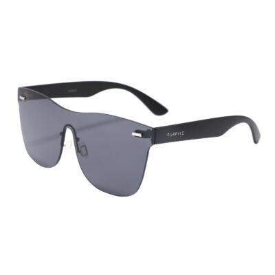 Santa Barbara F1002-1 Frameless Rectangular Oversized Tinted Sunglasses Black